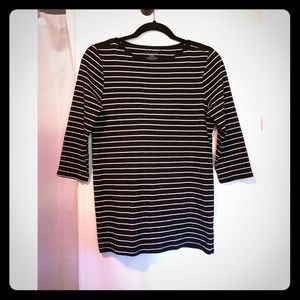 French style 3/4's sleeve striped shirt